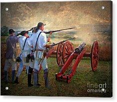 Defending Bemis Heights 1777 Acrylic Print by Lianne Schneider