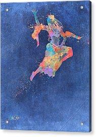 Defy Gravity Dancers Leap Acrylic Print by Nikki Marie Smith