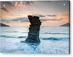 Defying The Elements Acrylic Print by Christos Andronis