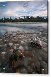 Defying The Flow Acrylic Print by Davorin Mance