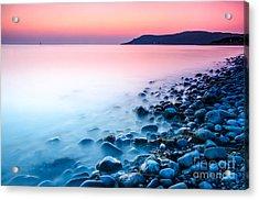 Deganwy Sunset Acrylic Print by Darren Wilkes