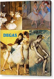 Degas Collage Acrylic Print by Philip Ralley