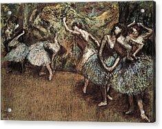 Degas, Edgar 1834-1917. Ballet Scene Acrylic Print by Everett