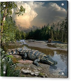 Deinosuchus Acrylic Print