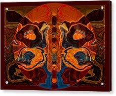 Acrylic Print featuring the painting Deities Abstract Digital Artwork by Omaste Witkowski
