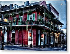 Deja Vu - Bourbon Street Acrylic Print by Bill Cannon