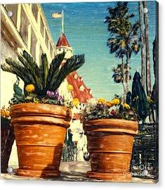 Del Flower Pots Acrylic Print