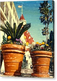 Del Flowers - V Acrylic Print
