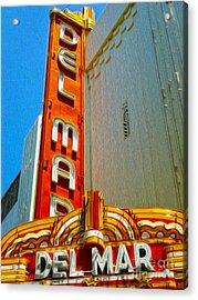 Del Mar Theater - Santa Cruz - 02 Acrylic Print by Gregory Dyer