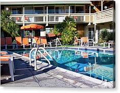 Del Marcos Pool Palm Springs Acrylic Print