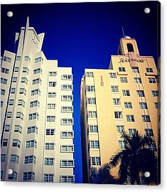 Delano And National Hotel's - Miami ( Acrylic Print