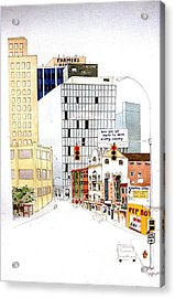 Delaware Avenue Acrylic Print by William Renzulli