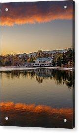 Delaware Park Marcy Casino Autumn Sunrise Acrylic Print
