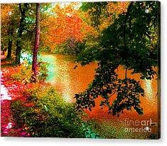 Delaware Raritan Canal In Autumn Acrylic Print