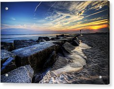 Delaware Sunrise At Indian River Inlet Acrylic Print