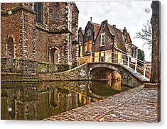Delft Behind The Church Acrylic Print