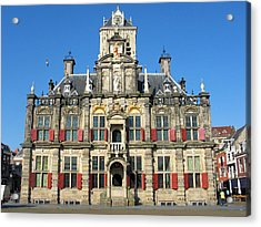 Acrylic Print featuring the photograph Delft City Hall by Gerry Bates