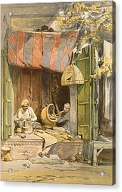 Delhi - Jeweller, From India Ancient Acrylic Print by William 'Crimea' Simpson