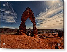 Delicate Arch Afternoon Glow Acrylic Print