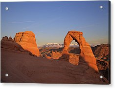 Delicate Arch At Sunset-2 Acrylic Print by Alan Vance Ley