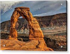 Delicate Arch Acrylic Print by Jeff Burton