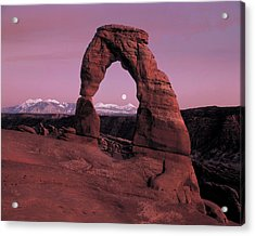 Delicate Arch Acrylic Print by Leland D Howard