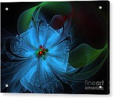 Delicate Blue Flower-fractal Art Acrylic Print