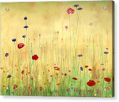 Delicate Poppies Acrylic Print by Cecilia Brendel