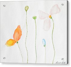 Acrylic Print featuring the painting Delicate  by Reina Resto