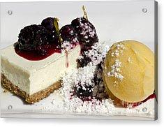 Delicious Dessert Acrylic Print by Sheldon Kralstein