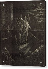Deliverence Of St. Peter Acrylic Print by Antique Engravings