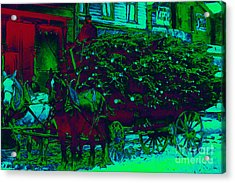 Delivering The Christmas Trees - 20130208 Acrylic Print by Wingsdomain Art and Photography