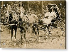 Delivering The Mail 1907 Acrylic Print by Floyd Russell