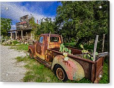 Delivery At The Stocktank Acrylic Print by Jeffrey W Spencer