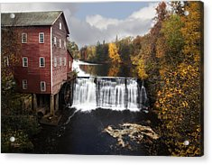 Dells Mill Fall Color Acrylic Print