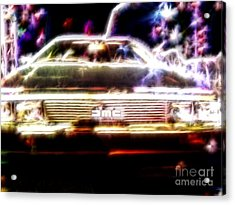 Delorean Fantasy Acrylic Print by Renee Trenholm