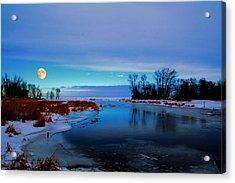 Delta Beach Channel Acrylic Print