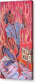 Delta Blues Acrylic Print by Robert Ponzio