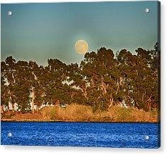 Delta Moonrise Acrylic Print