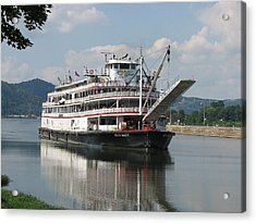 Delta Queen On Ohio River Acrylic Print by Willy  Nelson