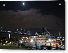 Delta Queen Under A Full Moon Acrylic Print by Kathy  White