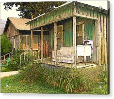 Delta Sharecropper Cabin - All The Conveniences Acrylic Print