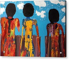 Demoiselles De Marrakesh Acrylic Print by Omar Hafidi