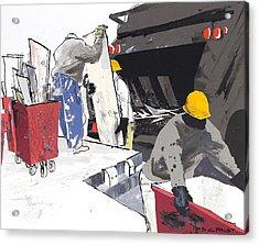 Demolition Crew Acrylic Print