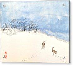 Demure Deer Acrylic Print
