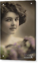 Demure Edwardian Beauty Acrylic Print by Jan Bickerton