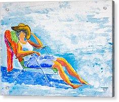 Dena At The Beach Acrylic Print