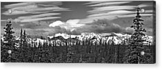 Denali In Clouds Acrylic Print