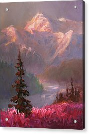 Denali Summer - Alaskan Mountains In Summer Acrylic Print