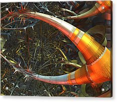 Dendrite Factory #9 Acrylic Print by Jeff Iverson